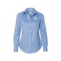 CALVIN KLEIN® NO-IRON MICRO PINCORD SHIRT: WOMEN