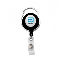 RETRACTABLE BADGE REEL WITH CARABINER